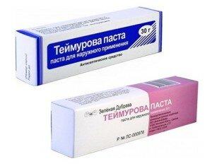 Паста Теймурова против потливости ног