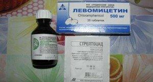 В состав болтушки входят антибиотики и антисептики