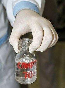 Дезинфекция спиртом