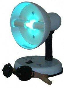 облучение ультрафиолетовой лампой