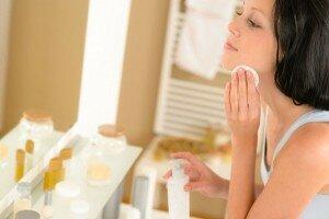 очистить лицо от косметики
